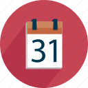calendar, date, event, number, page, reminder icon