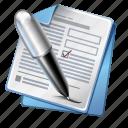document, form, pen, signature