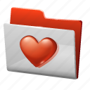 favourite, folder, heart icon