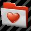 favourite, folder, heart icon