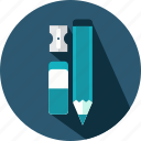 eraser, pencil, school, tool, tools, write, writing icon