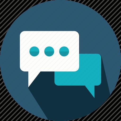 bubble, chat, comment, interface, social, speech, talk icon