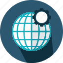 earth, geography, globe, grid, planet, web icon