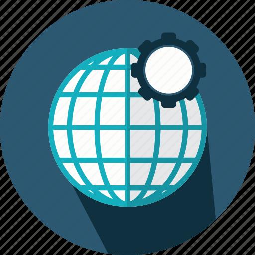 earth, geography, globe, grid, planet, web icon