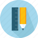 materials, pen, pencil, ruler icon