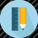 materials, pen, pencil, ruler