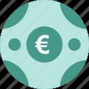 coin, euro, money