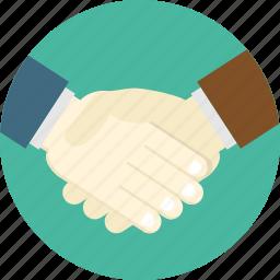 buisness, handshake, yes icon