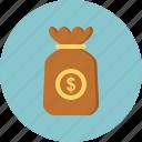 bag, coins, money