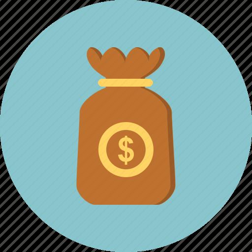 bag, coins, money icon