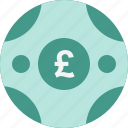coin, pound icon