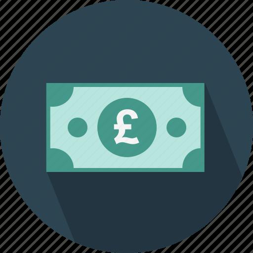bill, money, pound icon