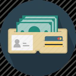 bill, card, credit-card, men, money, wallet icon