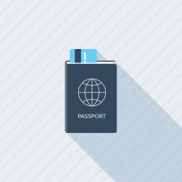 business, document, id, identification, pass, passport, travel icon