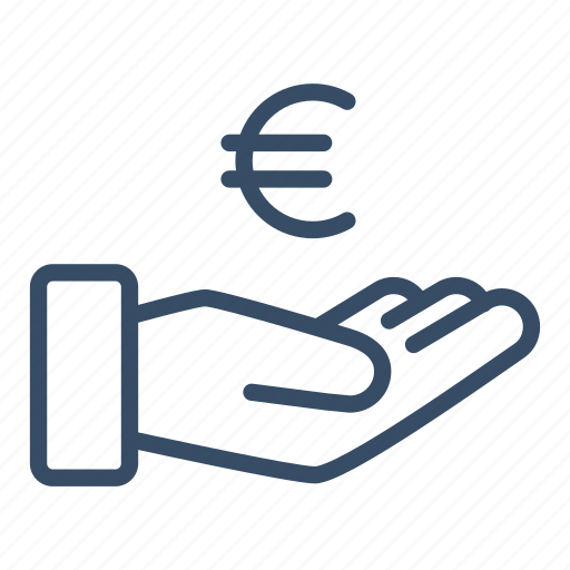 business, cash out, donate, euro, pay, payment, revenue icon
