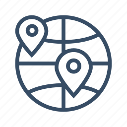 branches, business, globalization, globe, partner, place, world icon