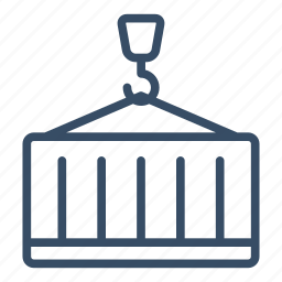 business, cargo, container, crane, logistics, shipping, storage icon