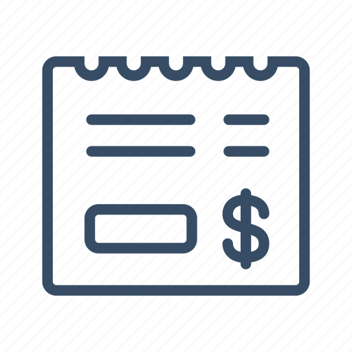business, contract, invoice, payment, purchase, receipt, tax icon