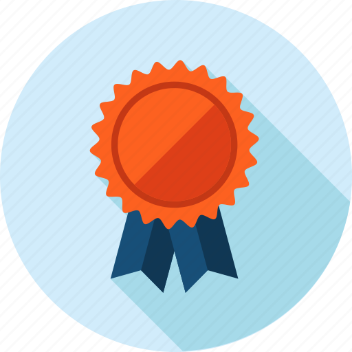 award, long shadow, offer, recommendation icon