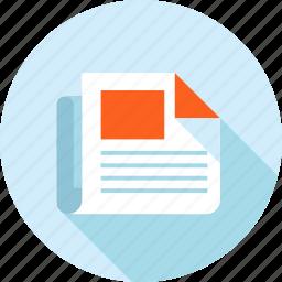 blog, content, development, flat design, long shadow, website icon