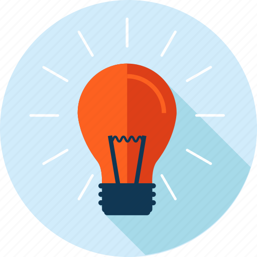 creativity, development, flat design, idea, innovation, long shadow icon