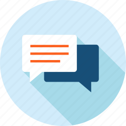 chat, communication, faq, flat design, long shadow, social media, support icon