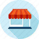 ecommerce, flat design, long shadow, sale, shopping, store icon