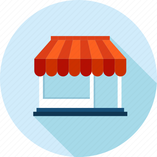 ecommerce, long shadow, sale, shopping, store icon