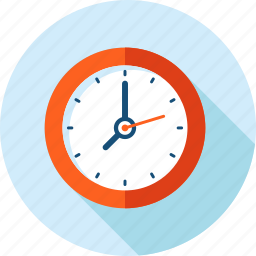 clock, deadline, flat design, long shadow, time icon