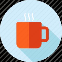 break, coffee, drink, flat design, long shadow, restaurant, tea icon