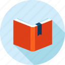 book, education, flat design, knowledge, learning, long shadow icon