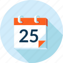 calendar, celebration, event, flat design, holiday, long shadow, news icon