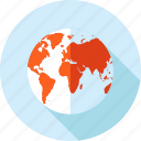 destination, flat design, globe, location, long shadow, navigation icon