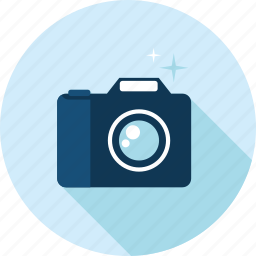 camera, flat design, gallery, image, long shadow, photography, picture icon