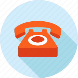 call, communication, contact, flat design, long shadow, support, telephone icon