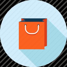 bag, flat design, long shadow, marketing, online, sale, shopping icon