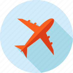 airplane, delivery, flat design, flight, tourism, transportation, travel icon