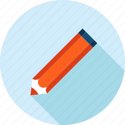 copywriter, education, flat design, knowledge, long shadow, writing icon