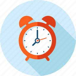 clock, event, flat design, long shadow, reminder, schedule, time icon