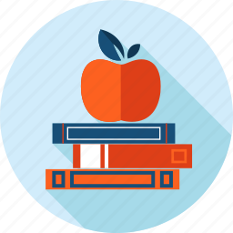 book, education, flat design, knowledge, long shadow, school, university icon