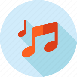 flat design, listening, long shadow, music, play, player, song icon