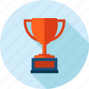award, cup, flat design, long shadow, sport, success icon