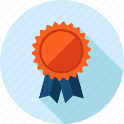 award, badge, flat design, long shadow, medal, recommendation, success icon