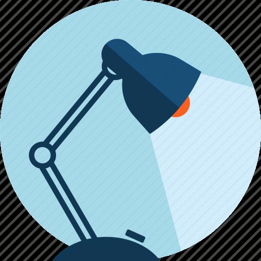 creativity, design, desktop, flat design, lamp, long shadow, office icon