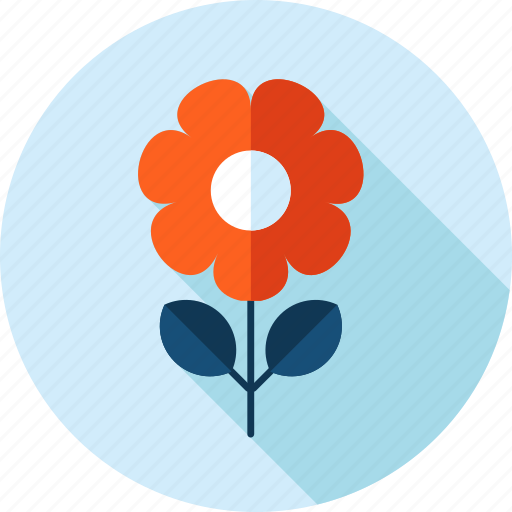 ecology, environment, flat design, flower, long shadow, nature icon