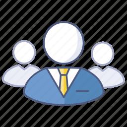 business, ceo, group, leader, representative, spokesperson, team icon