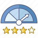 company, credit rating, environmental, gauge, loan icon