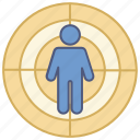 corporate, gun, headhunting, human, range, shooting, target icon