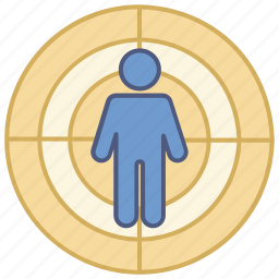 corporate, gun, headhunting, human, range, shooting, target icon