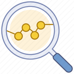 analysis, data, examine, market, search, statistical, trend icon